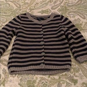Gap cardigan size 6-12 months navy/gray